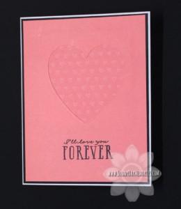 Blossom Die Cut Heart Card