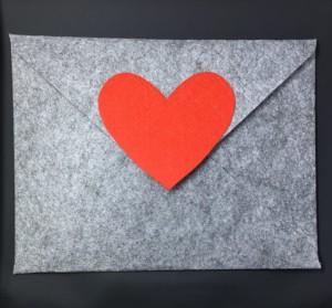 Grey Felt Envelope