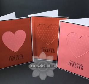 Die Cut Heart Cards