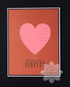 Cranberry & Blossom Die Cut Heart Card