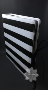 Striped Album with Ribbon Ties