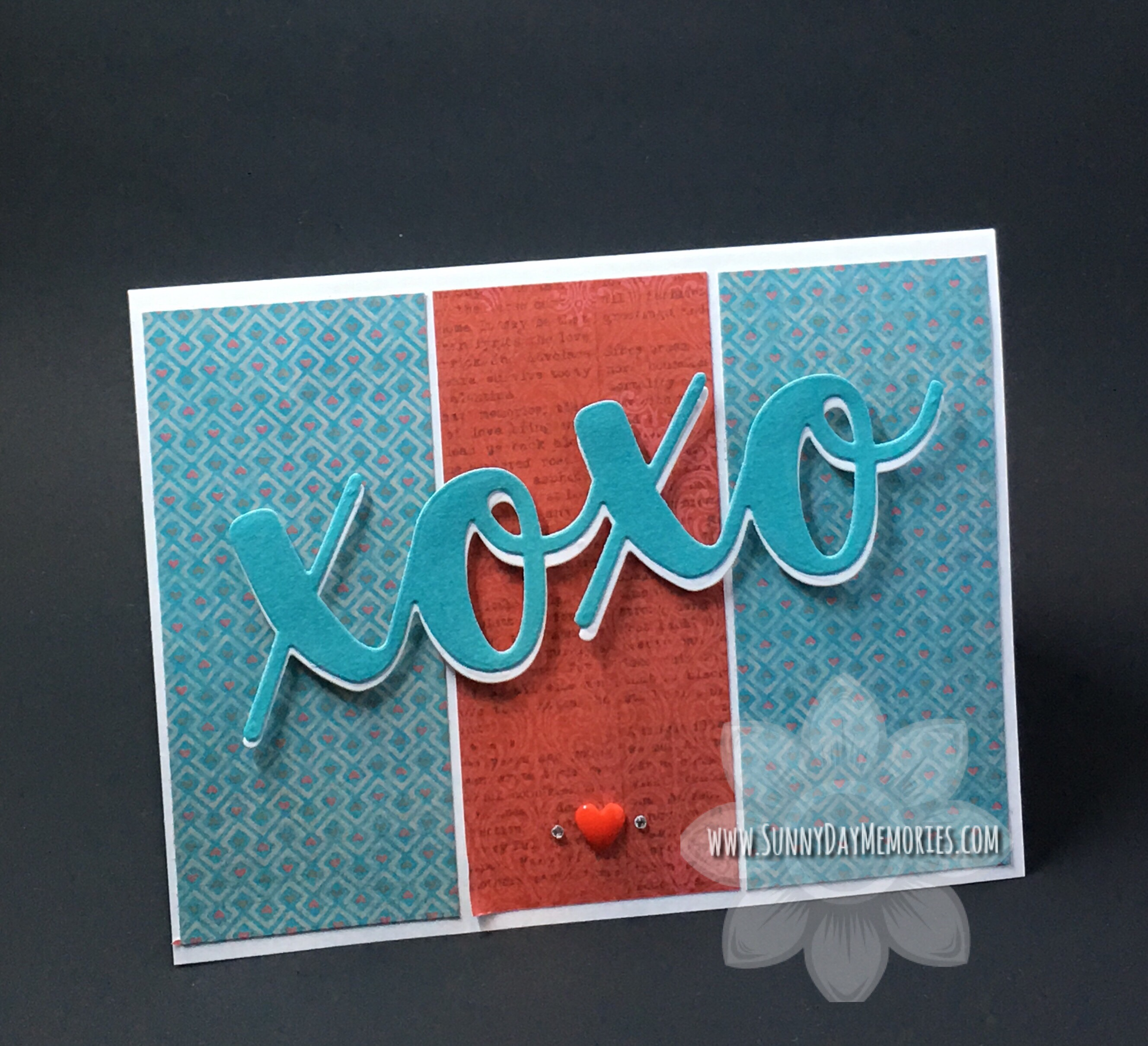 Another Altered XOXO Valentine Card