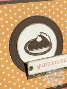 Closeup of Pie Card