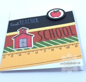 Side view of School Kids Teacher Appreciation Card