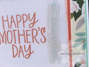 Closeup of Mother's Day Card