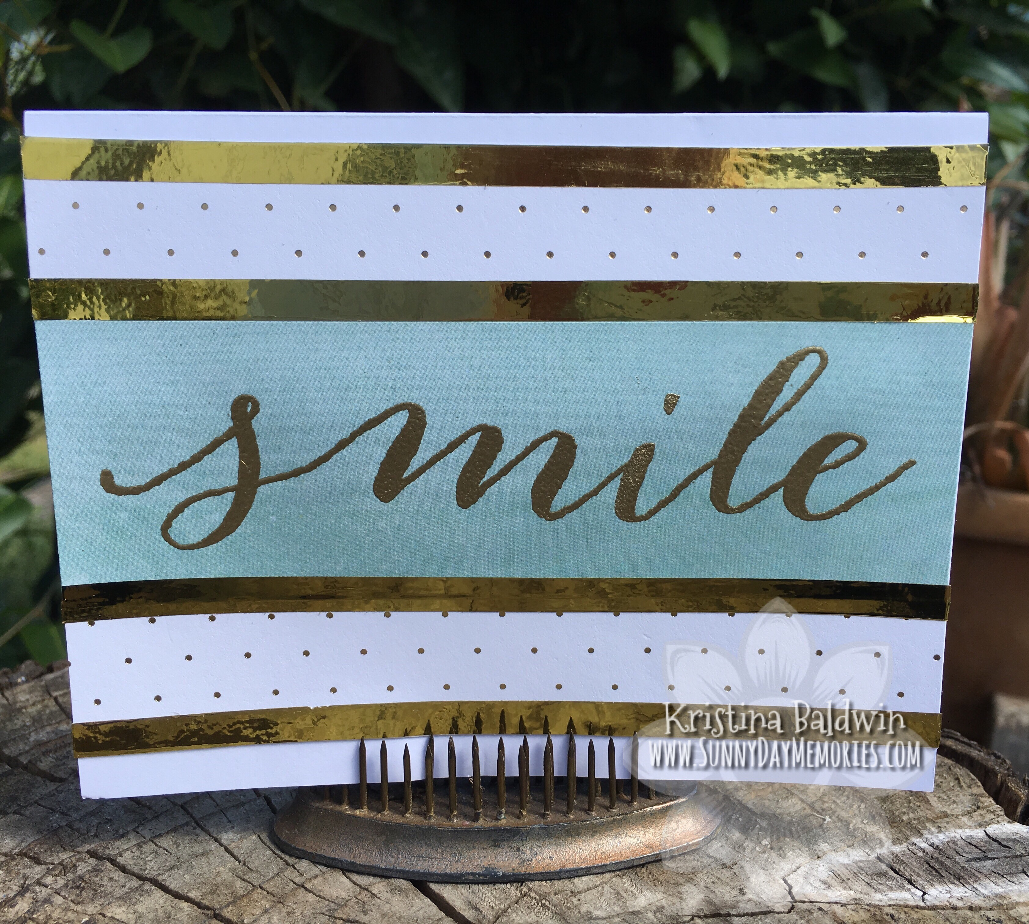 Live Beautifully Smile Card