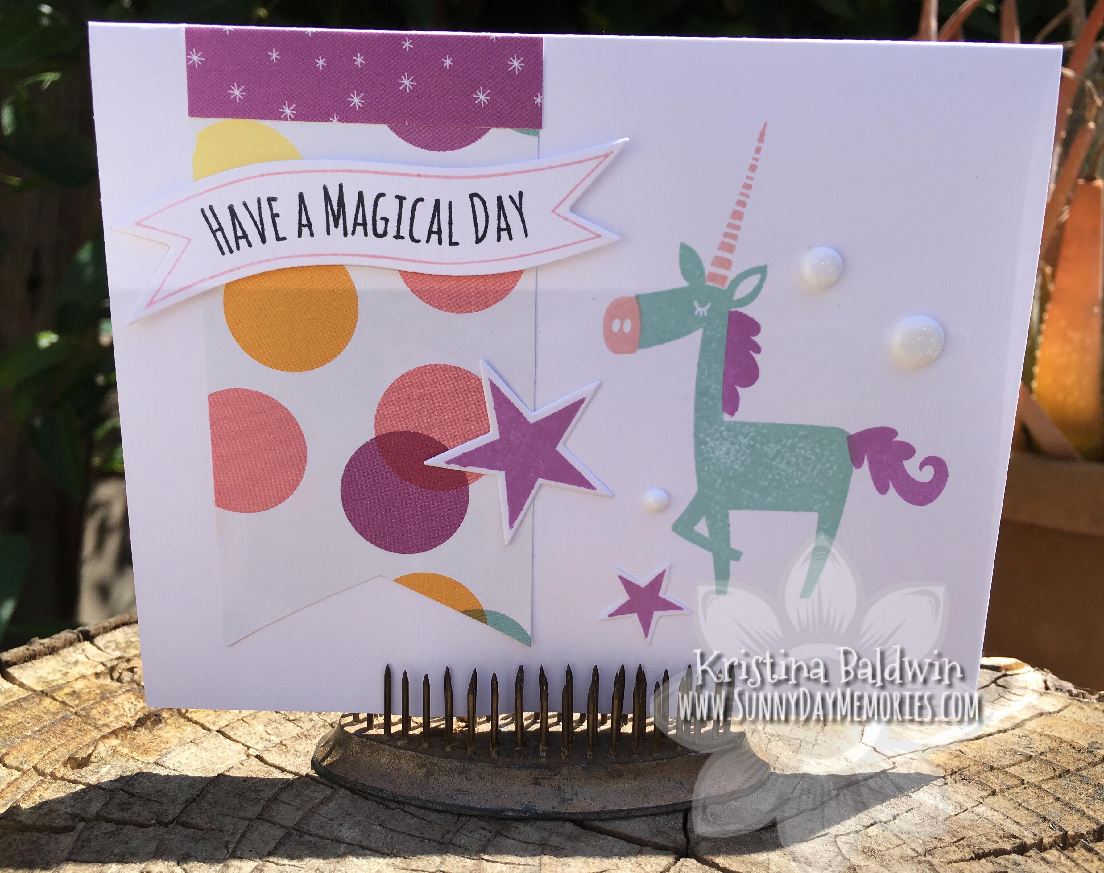 Magical Day Unicorn Card