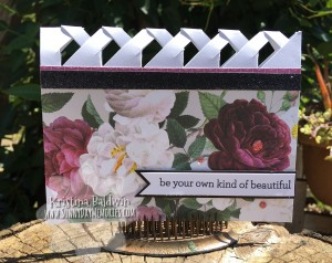 Live Beautifully Lattice Fold Card