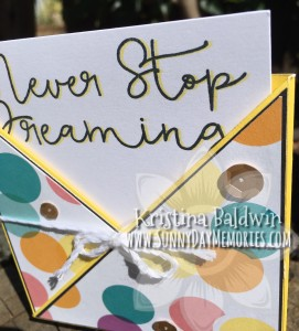 Closeup Never Stop Dreaming Card