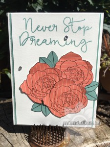 Keep Dreaming Floral Card