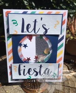 Open Let's Fiesta Shaker Card