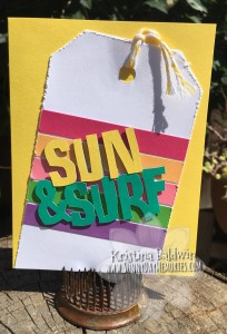 Sun & Surf Cricut Flower Market Card