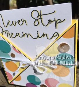 Closeup Never Stop Dreaming Card