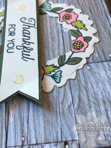 Wood Slat Embossing of Thankful Card