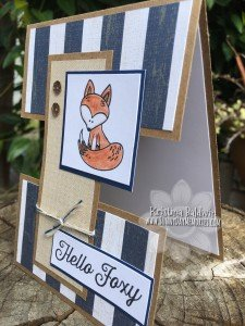 Side View of Hello Foxy Card