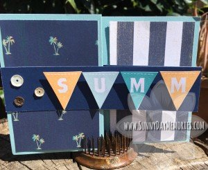 Summer Double Z Fold Card