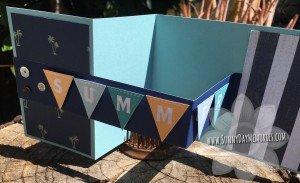 Open Summer Double Z Fold Card