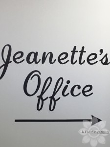 Jeanette's Office Sign