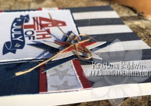 Layered Star on 4th of July Card