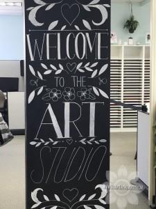 Art Studio Welcome Sign