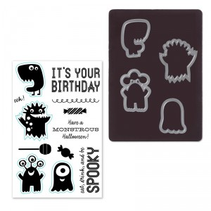 Monstrous Halloween Stamp Set + Thin Cuts dies