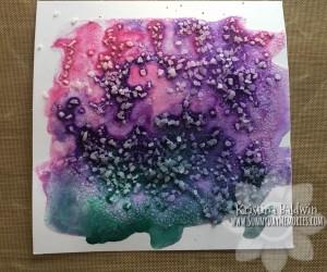 Salt Watercolor Almost Dry Sample