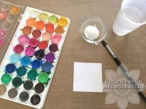 Salt Watercolor Technique Supplies