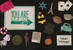 Cricut You Are Here Display Board