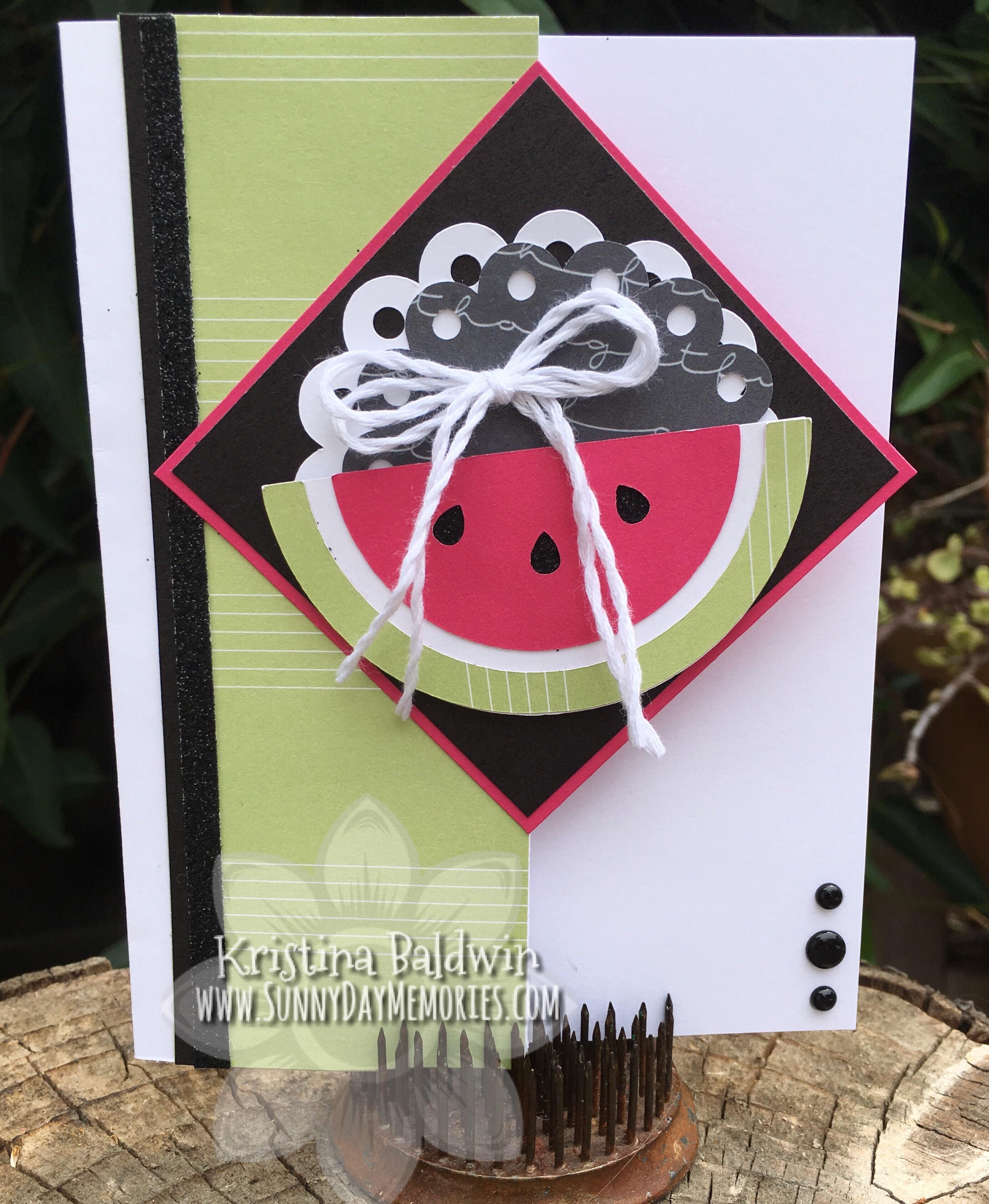 Cricut You Are Here Watermelon Card