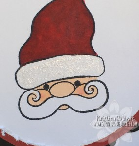 Closeup Santa Circle Accordion Card