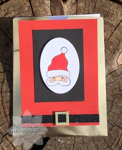 Santa From the Heart Slider Card