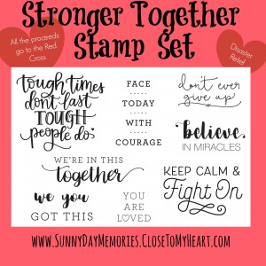 Stronger Together Disaster Relief Stamp Set