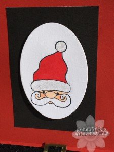 Closeup Santa Slider Card