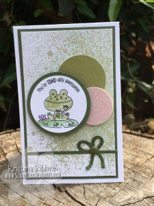 Punny Pals Toadally Awesome Card
