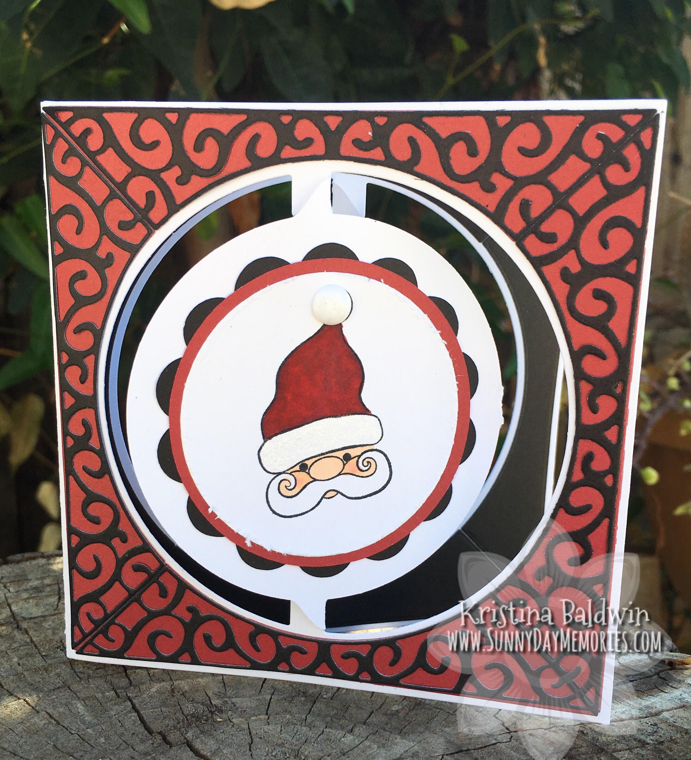 Santa Circle Accordion Card