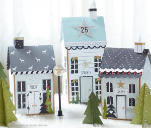 Papercrafted Holiday Village