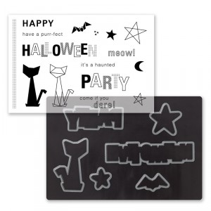 Cats & Bats Cardmaking Stamp Set + dies