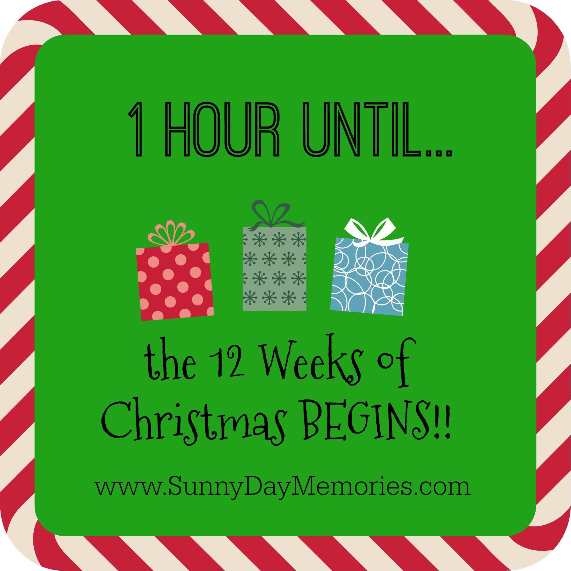 1Hour Notice 12 Weeks of Christmas