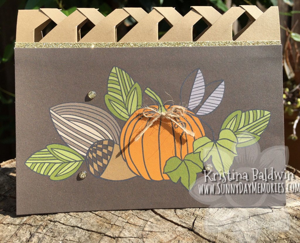 Pumpkin Lattice Card