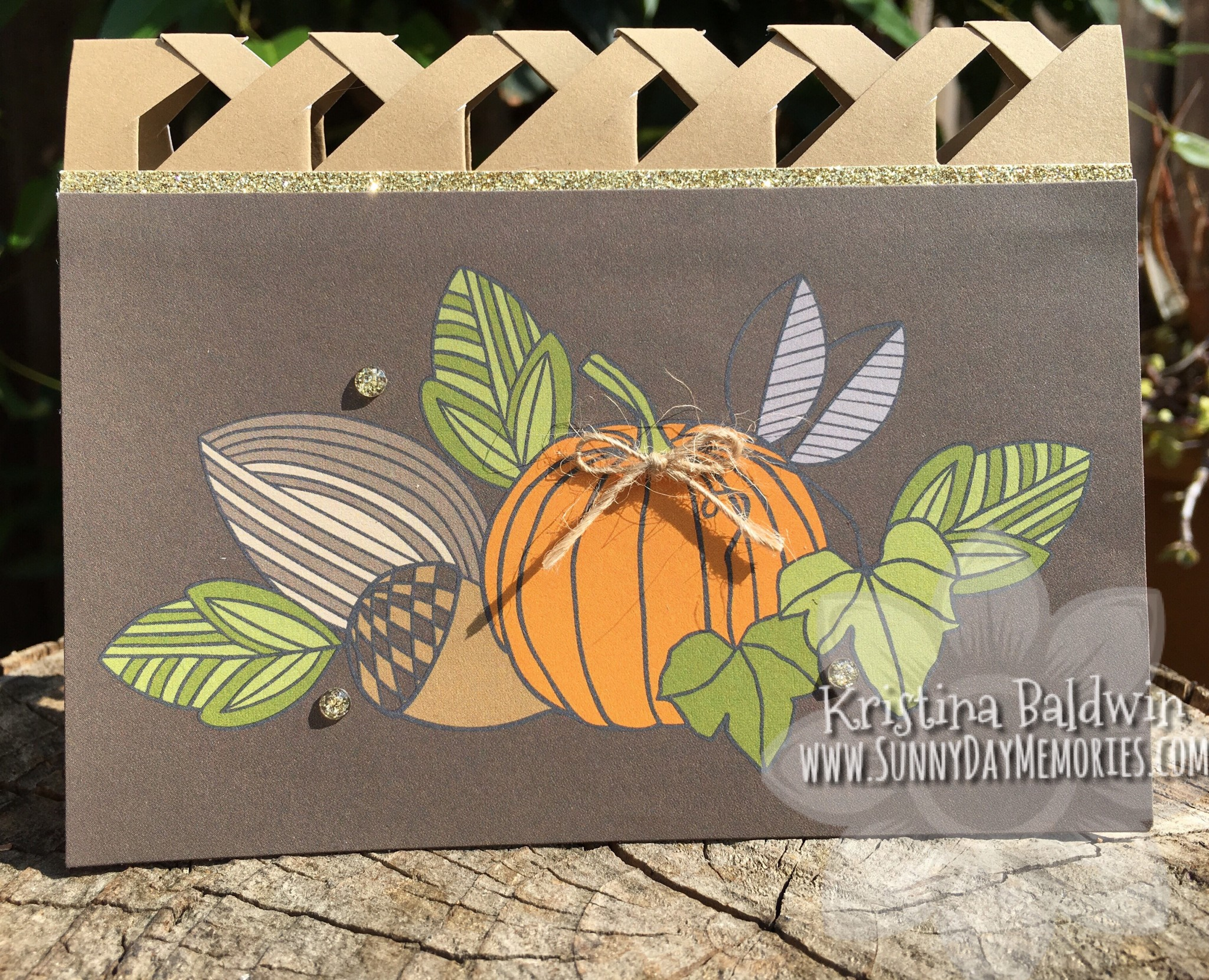 Pumpkin Lattice Card