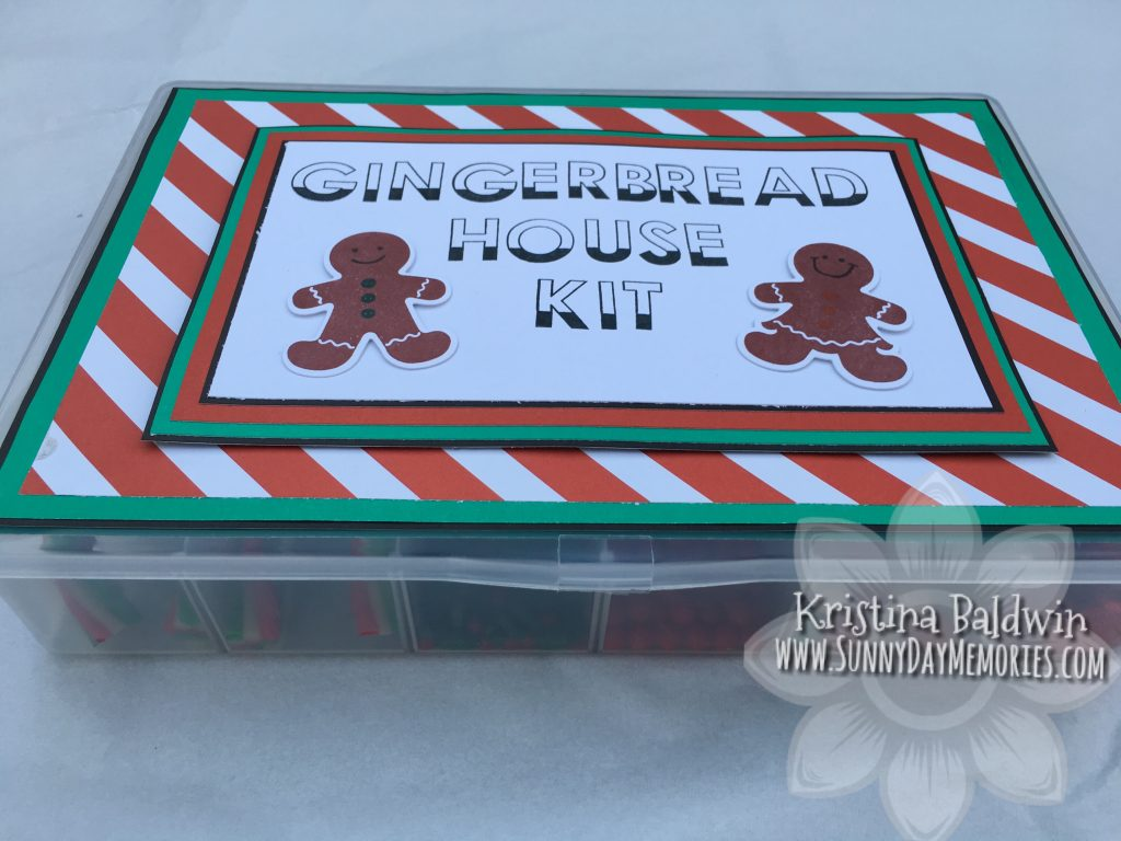 Side View of Gingerbread House Kit
