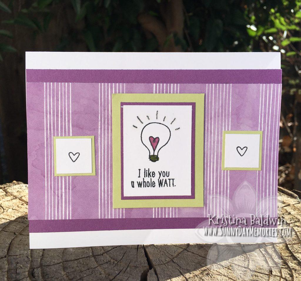 I Like You a Watt Pun Card