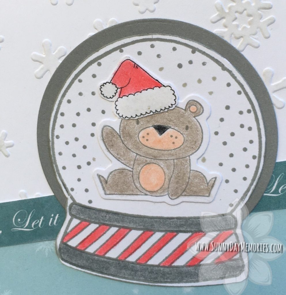 Close up Snow Globe Card