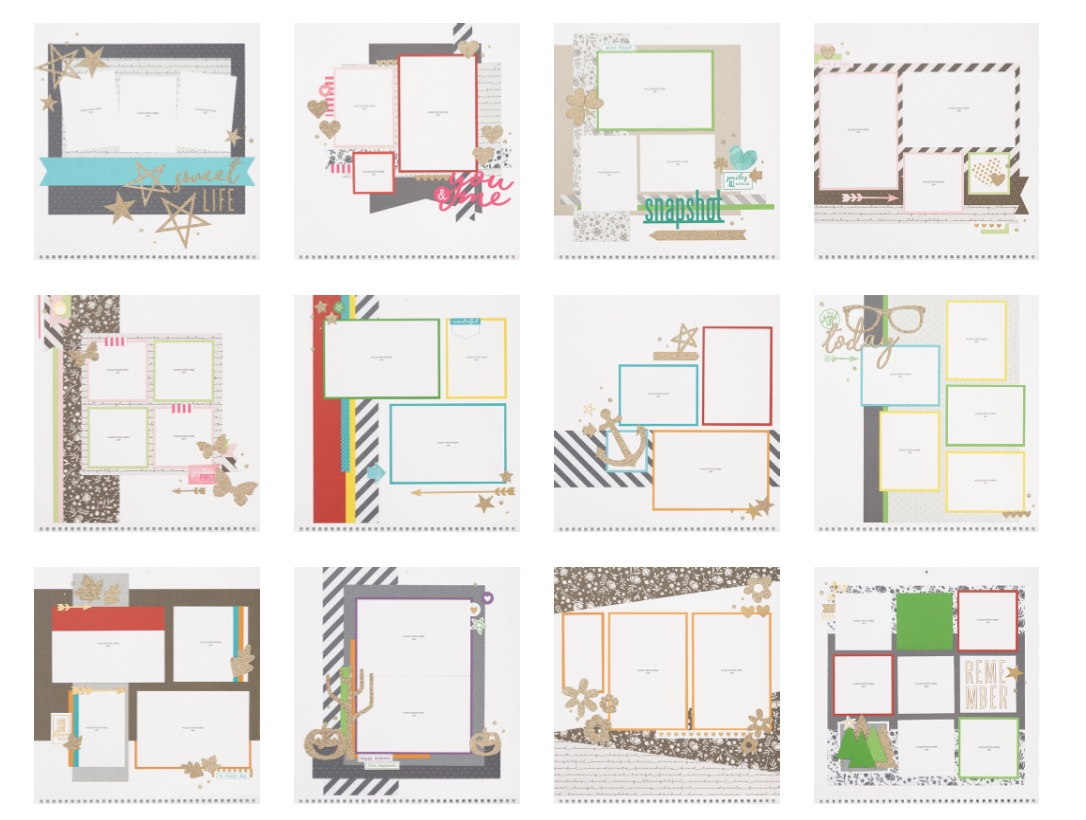 Layouts for CTMH's Through the Year Calendar Kit