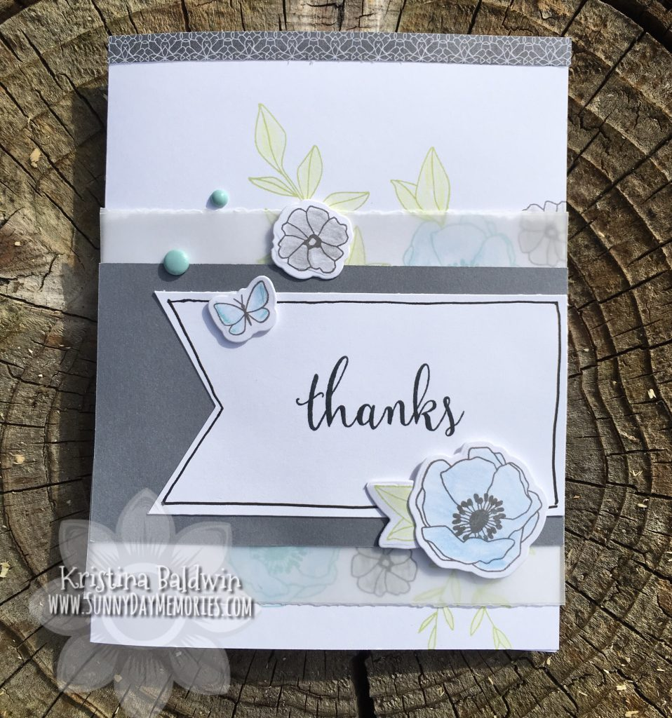 Vellum Thanks Card