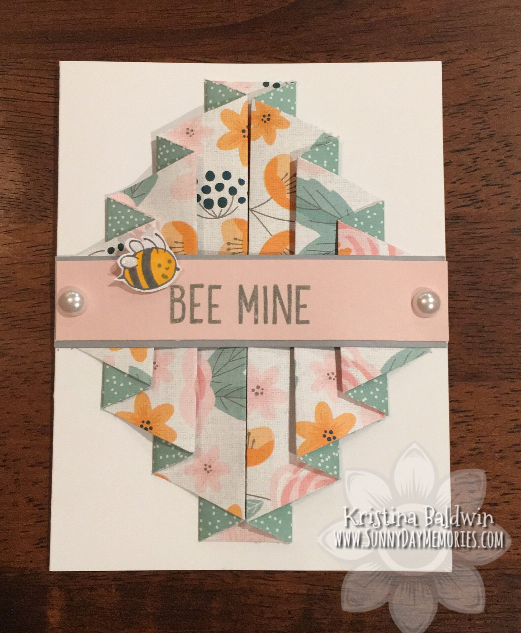 Bee Mine Pleated Card