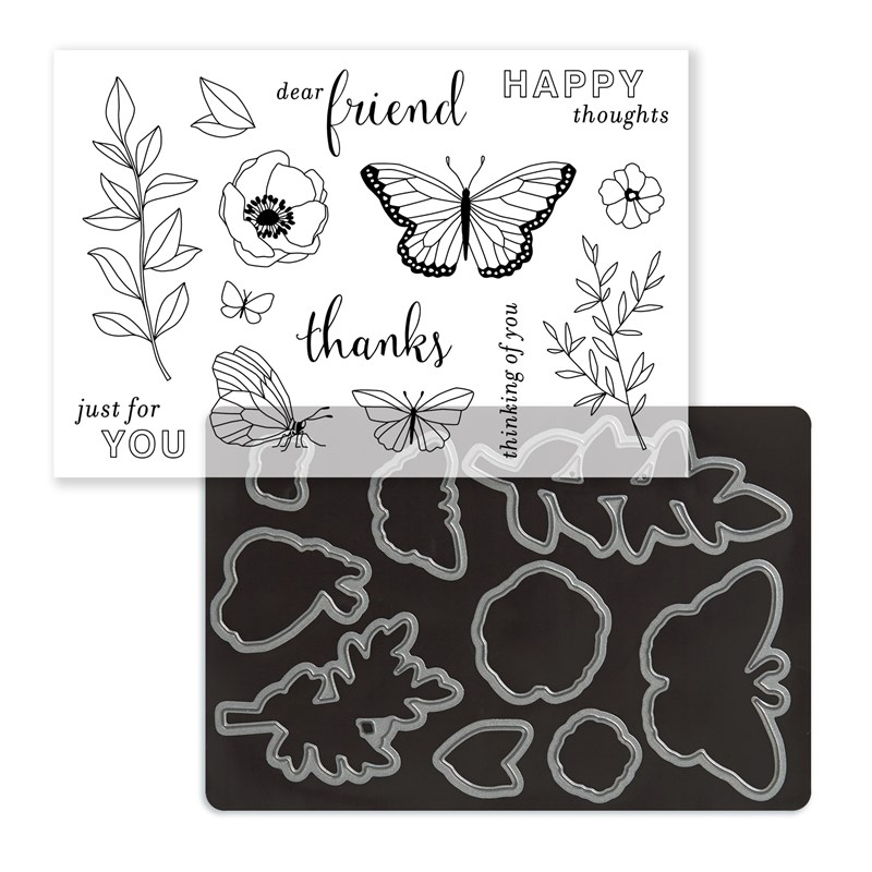 Chelsea Gardens Cardmaking Stamp + Thin Cuts dies