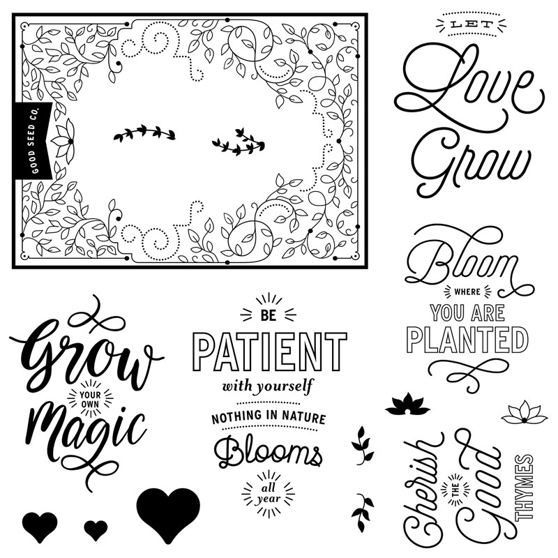 January Stamp of the Month Bloom & Grow