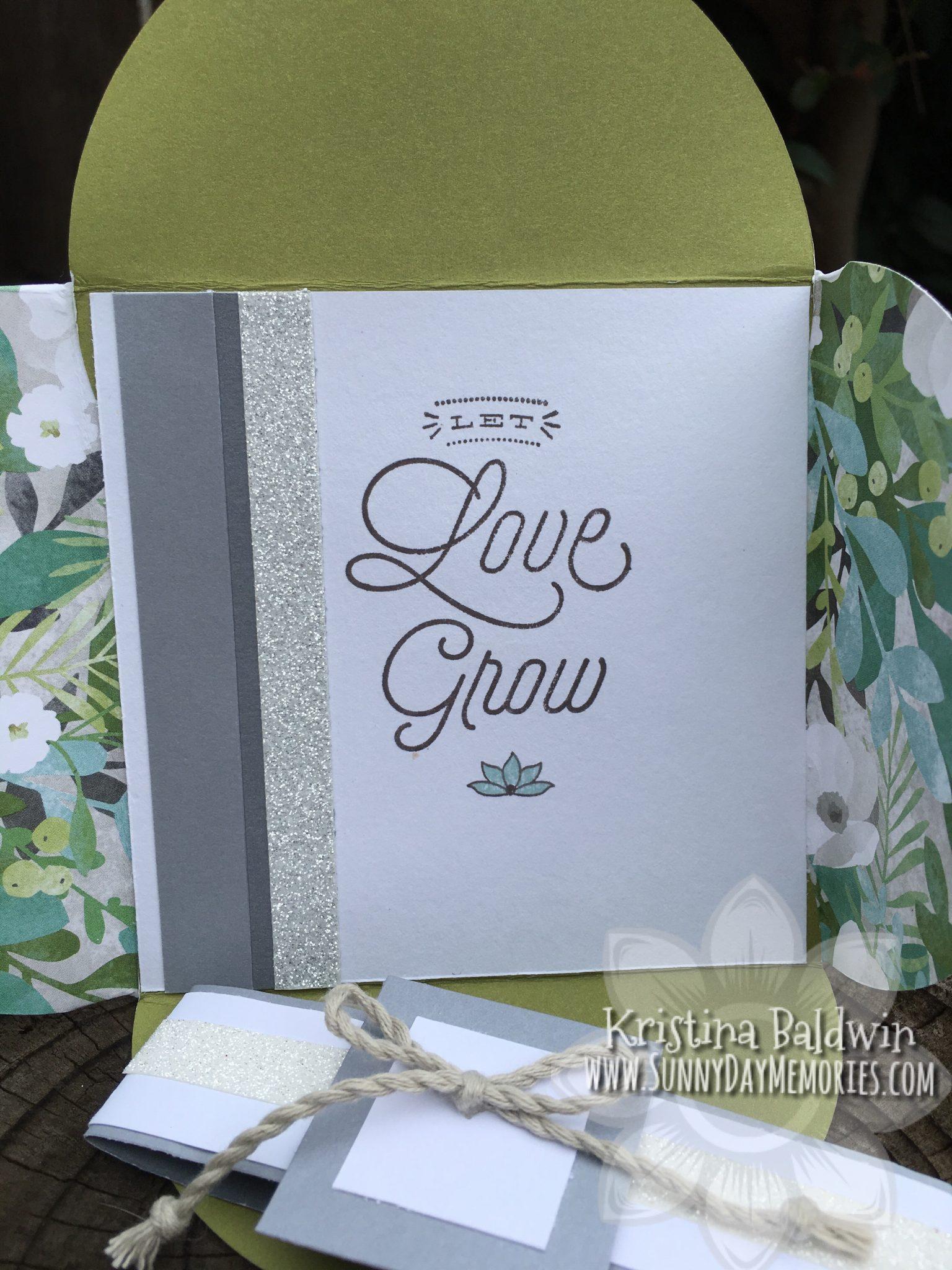 Open Let Love Grow Petal Fold Card