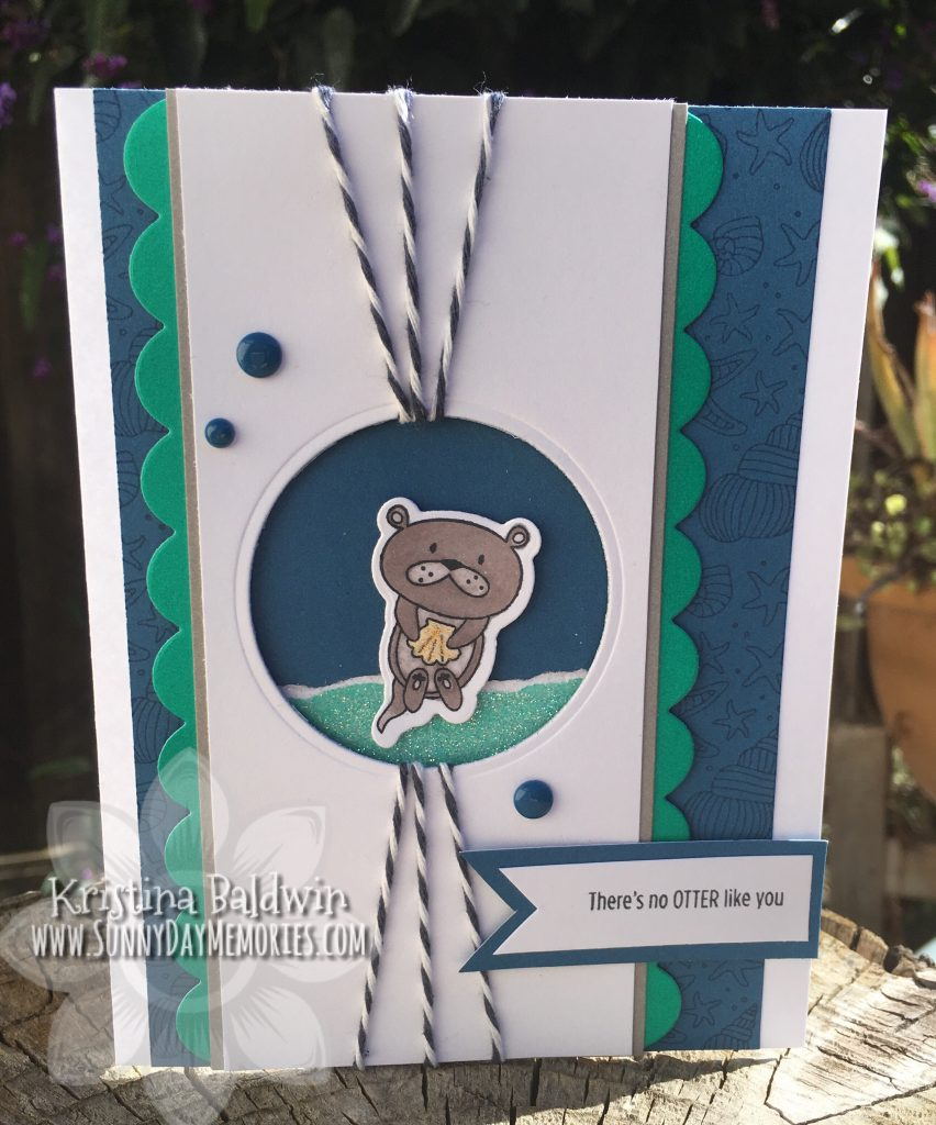 CTMH Punny Pals Otter Card